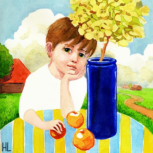 'Jongen met Hortensia'